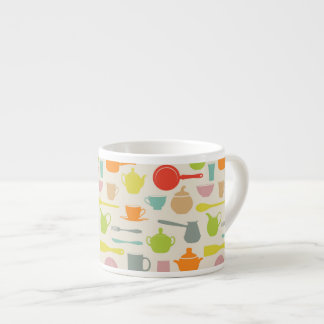 Dishes Pattern Espresso Cup