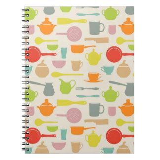 Dishes Pattern Spiral Notebook