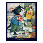 """""""Dishes with Fishes"""" Original Children's Book Art Poster"""