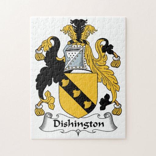 Dishington Family Crest Jigsaw Puzzle