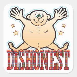 Dishonest Fat Man Square Sticker