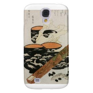 Dishware y pescados japoneses circa 1800s funda para galaxy s4