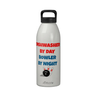 Dishwasher by Day Bowler by Night Water Bottle