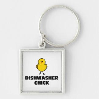 Dishwasher Chick Keychain