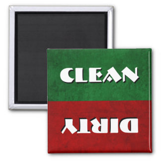 Dishwasher Clean / Dirty 2 Inch Square Magnet