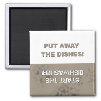 Dishwasher Clean/Dirty 2 Inch Square Magnet
