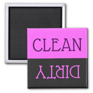 Dishwasher Clean Dirty Dishes Purple Black Kitchen Magnet
