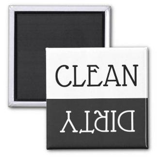 Dishwasher Clean Dirty Dishes White Black Kitchen Magnet