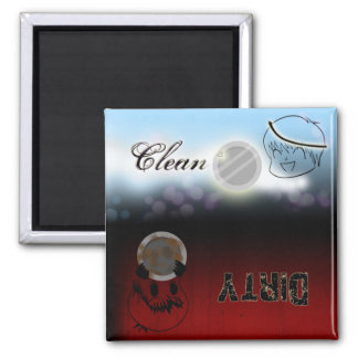 Dishwasher - Clean/Dirty 2 Inch Square Magnet