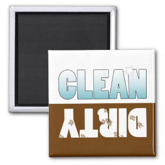 Dishwasher Clean or Dirty Sign Refrigerator Magnets
