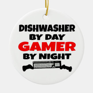 Dishwasher Gamer Ceramic Ornament