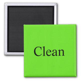 """Dishwasher Magnet """"Clean"""""""