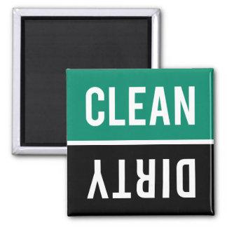 Dishwasher Magnet CLEAN | DIRTY - Emerald & Black