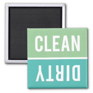 Dishwasher Magnet CLEAN | DIRTY - Mint & Turquoise