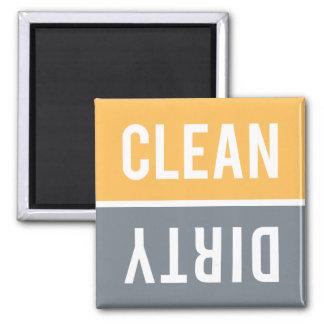 Dishwasher Magnet CLEAN | DIRTY - Orange Gray