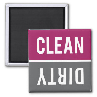 Dishwasher Magnet CLEAN | DIRTY - Raspberry Gray