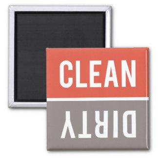 Dishwasher Magnet CLEAN | DIRTY - Red Orange Gray