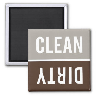 Dishwasher Magnet CLEAN | DIRTY - Stone Gray Brown