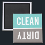 "Dishwasher Magnet CLEAN | DIRTY - Turquoise &amp; Gray<br><div class=""desc"">Turquoise blue,  warm gray,  and white CLEAN 