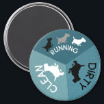 """Dishwasher Magnet Pet Dog Running Clean Dirty Aqua<br><div class=""""desc"""">Take some of the mystery out of your life by knowing the status of your clean or dirty dishes with a dishwasher magnet. Aqua Blue tones with Gray , black and white accents. Cute Scotty Dogs to let Dog Moms and Dog Dads know if your dishes are clean, dirty or...</div>"""