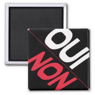 DISHWASHER MAGNET - SQUARE - OUI-NO