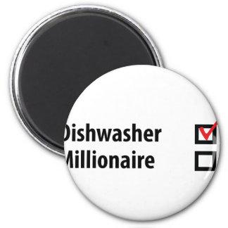 dishwasher millionaire icon 2 inch round magnet