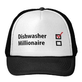 dishwasher millionaire icon trucker hat