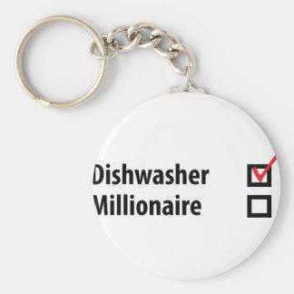 dishwasher millionaire icon keychain