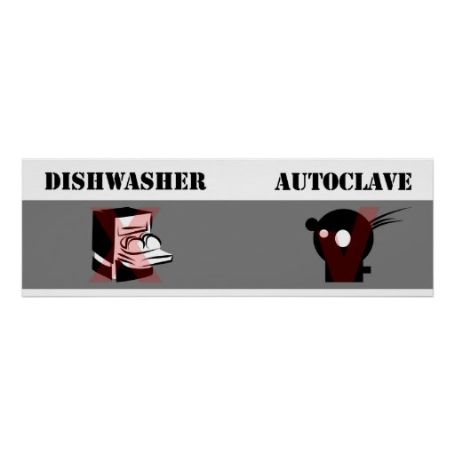 Dishwasher not equal Autoclave Poster