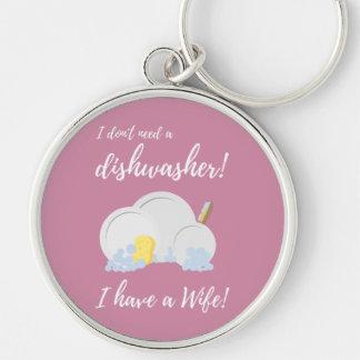 Dishwasher Women Funny Zv6ru Keychain