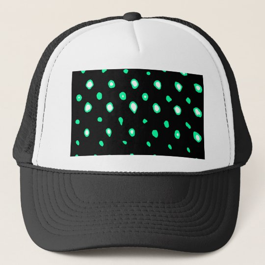 Disign 1 Dots Cyan The MUSEUM Zazzle Gifts Trucker Hat