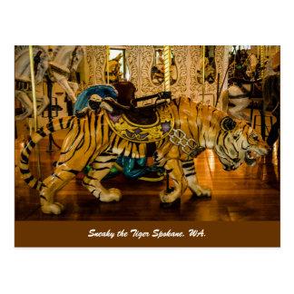 Disimulado el tigre Spokane, WA. Tarjetas Postales
