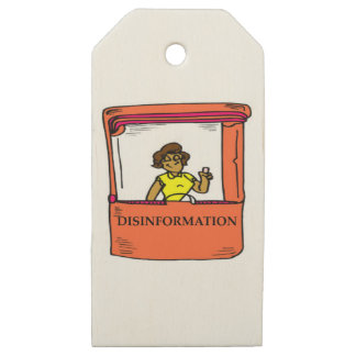 DISINFORMATION WOODEN GIFT TAGS