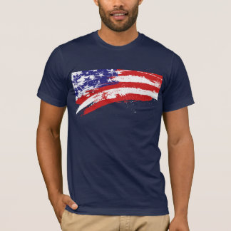 Disintegrating American Flag T-Shirt