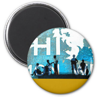 disintegrating days 2 inch round magnet
