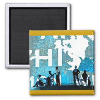 disintegrating days 2 inch square magnet