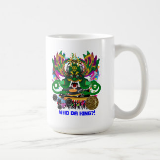 Disk Jockey King Mardi Gras Theme Plse View Notes Classic White Coffee Mug