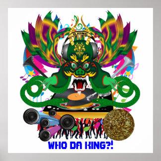 Disk Jockey King Mardi Gras Theme Plse View Notes Poster