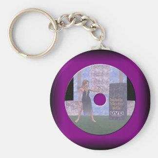 Disk Label Basic Round Button Keychain