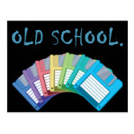 diskettes de la escuela vieja postales