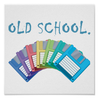 diskettes de la escuela vieja póster