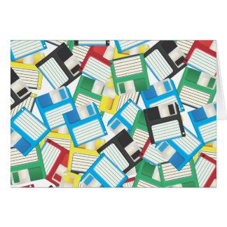 Diskettes del vintage tarjeta de felicitación