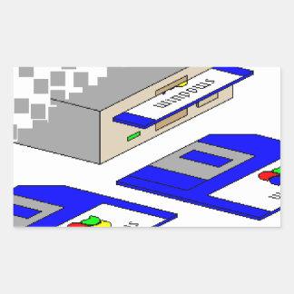 Diskettes Rectangular Pegatinas