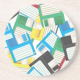 Diskettes Posavasos Manualidades