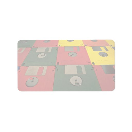 Diskettes únicas etiquetas de dirección