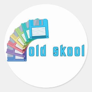 Diskettes viejas de Skool Etiqueta Redonda