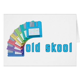 Diskettes viejas de Skool Tarjetón