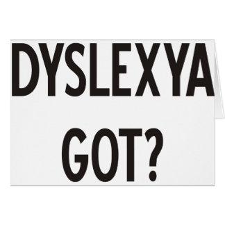 ¿Dislexia conseguida? ¡Productos y diseños! Tarjeta