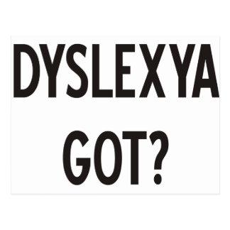 ¿Dislexia conseguida? ¡Productos y diseños! Postales