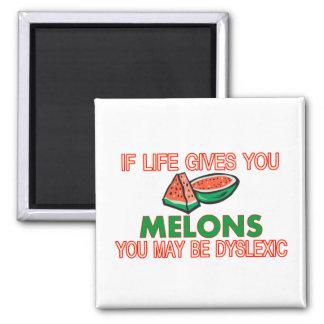 Dislexia del melón imán cuadrado